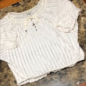 Off white and cream Guess top
